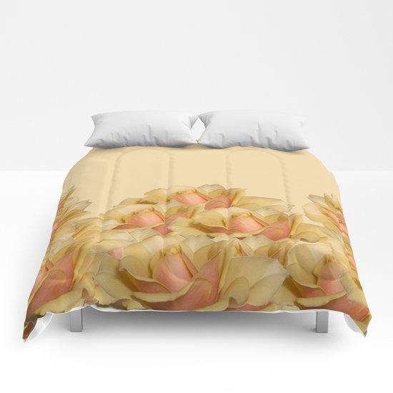Peach Rose Delight Comforters