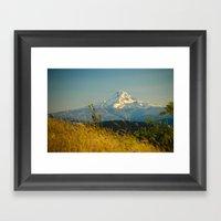 Mount Hood from Courtney Ridge Framed Art Print