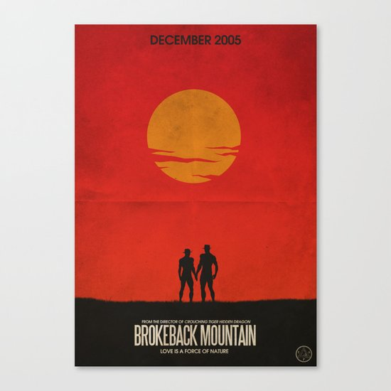 Brokeback Mountain Film Poster Canvas Print
