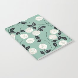Pattern with white roses Notebook