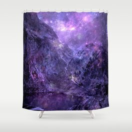 Space Mountains Shower Curtain
