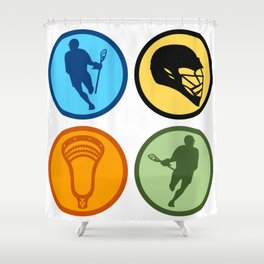 Lacrosse 4Corners Shower Curtain
