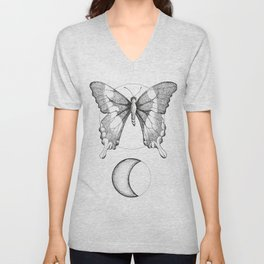 The Moon Butterfly Unisex V-Neck