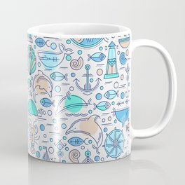 Sea pattern no1 Coffee Mug