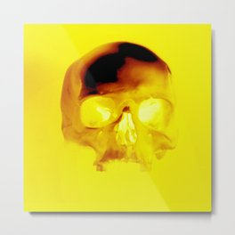 Yellow Skull Metal Print