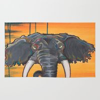 dumbo Area & Throw Rugs featuring Not so Dumbo (Elephant) by Kai Monster