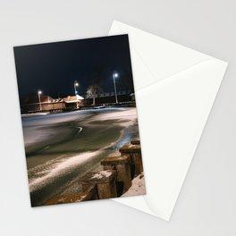 Frozen lake Palic Stationery Cards