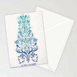 La Vie & La Mort – Blue Ombré Stationery Cards