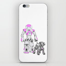 The Dog Walker. (Pink) iPhone Skin