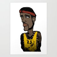 basketball Art Prints featuring Basketball  by JBLITTLEMONSTERS