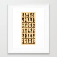 nba Framed Art Prints featuring NBA Fashion Headliners  by Nobody People
