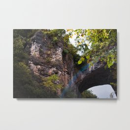 Looking up to the Natural Bridge, VA Metal Print