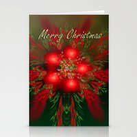 merry christmas Stationery Cards featuring Merry Christmas by Roger Wedegis