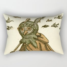 Owl dressed as a soldier Rectangular Pillow