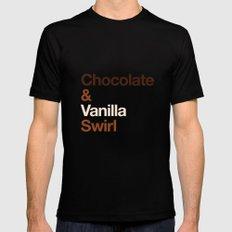 Chocolate & Vanilla Swirl OITNB MEDIUM Black Mens Fitted Tee