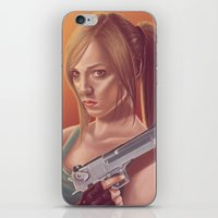lara croft iPhone & iPod Skins featuring Lara Croft by Steven Herbers