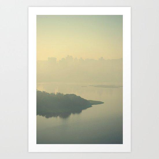 Powai Lake Art Print