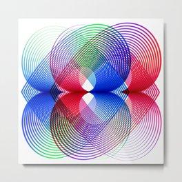 Flower Power geometric  colorful Metal Print