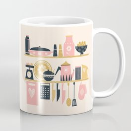 Colorful Cooking In A Mid Century Scandinavian Kitchen Coffee Mug