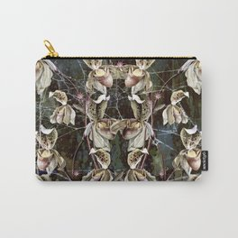 Orchids and Pink Spiders Carry-All Pouch