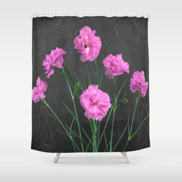 Pinks on Slate Shower Curtain