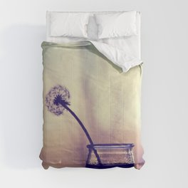 dandelion morning Comforters