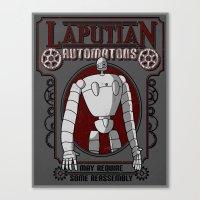 laputa Canvas Prints featuring Laputian Automatons by adho1982