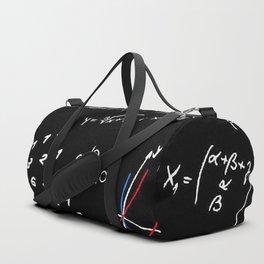 math blackboard Duffle Bag