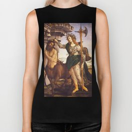 Pallas and the Centaur by Sandro Botticelli Biker Tank
