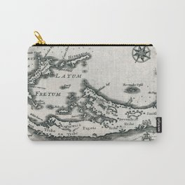 Vintage Map of Bermuda (1636) Carry-All Pouch