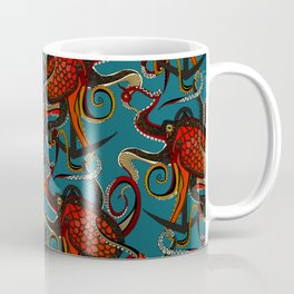 octopus ink teal Coffee Mug