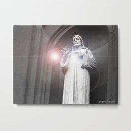 His Guidig Light Metal Print