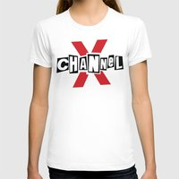 channel T-shirts featuring Channel X by Popp Art
