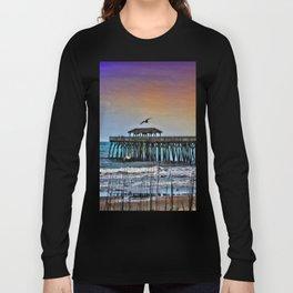 Myrtle Beach State Park Pier - Photo as Digital Paint Long Sleeve T-shirt