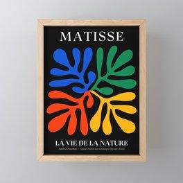 Nature Leaf Cutouts II: Night Edition | Mid-Century Henri Matisse Series Framed Mini Art Print