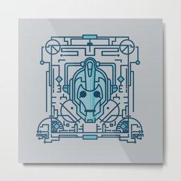 Doctor Who: Cyberman Metal Print
