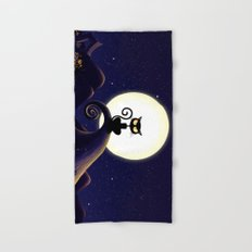 Halloween Cat Hand & Bath Towel