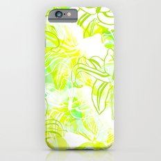 Green Flowers iPhone 6s Slim Case