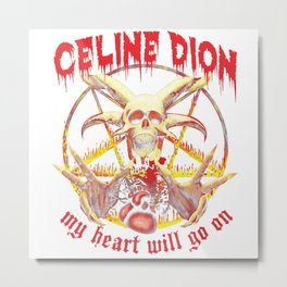 CelineDion My Heart Go On Metal Print