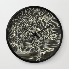Grey winter Wall Clock