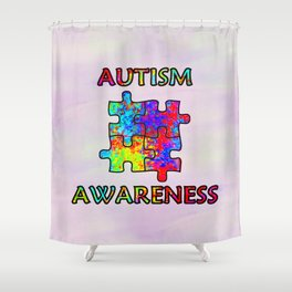 Autism Awareness Shower Curtain