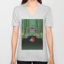 Stairway To The Temple Unisex V-Neck