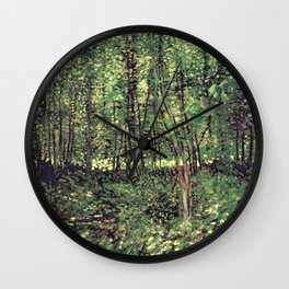 Trees and Undergrowth Wall Clock