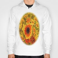 sunflowers Hoodies featuring SUNFLOWERS by Vargamari