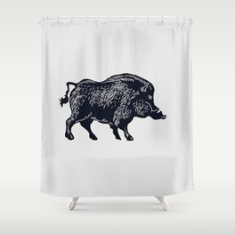 The Majestic Hog Shower Curtain