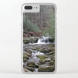 Creek in the mountains Clear iPhone Case