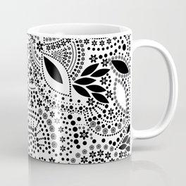Black and white polka dot pattern . Coffee Mug