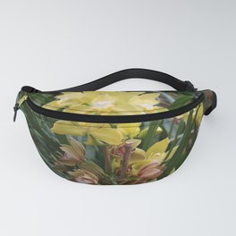 Yellow Orchids Fanny Pack