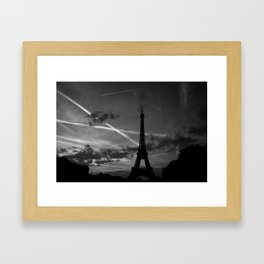 Parisian Sunset Framed Art Print