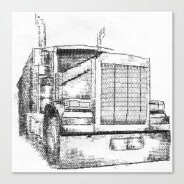 Typewritten Truck Canvas Print